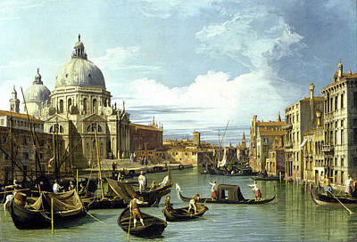 Photograph - The Entrance To The Grand Canal Venice 1730 by Canaletto