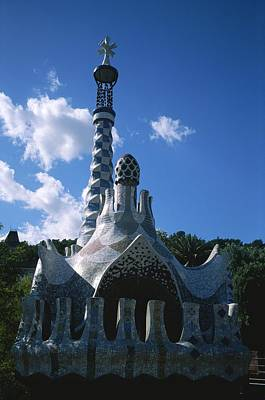 Antoni Gaudi Wall Art - Photograph - The Entrance To The Parc by Taylor S. Kennedy