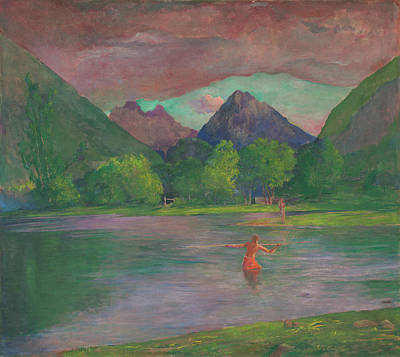 Painting - The Entrance To The Tautira River, Tahiti by John La Farge