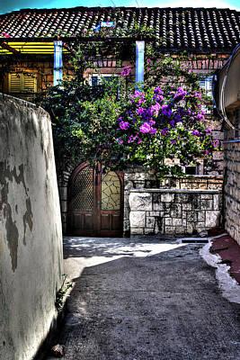 Entrance Door Photograph - The Entrance Way Corfu Grrece by Tom Prendergast