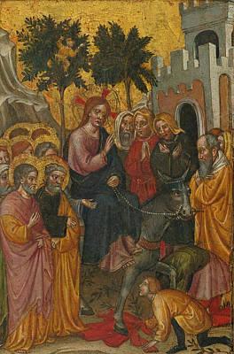 Jerusalem Painting - The Entry Of Christ Into Jerusalem by Zanino di Pietro