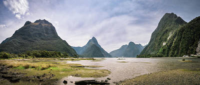 Photograph - The Entry To The Fiord At Milford Sound by Daniela Constantinescu