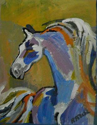 Horse Painting - The Equine by Miss Ratul Banerjee