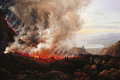 Magma Painting - The Eruption Of Vesuvius by Johan Christian Dahl