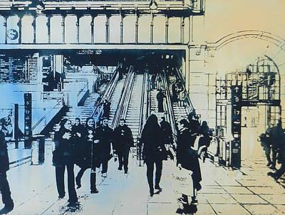 The Escalator Art Print by Jonathan Deutsch