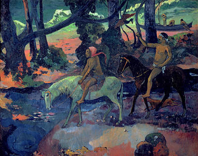 1901 Painting - The Escape by Paul Gauguin