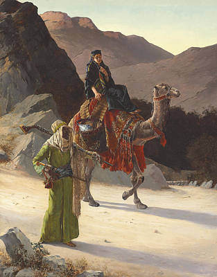 Mountain Valley Painting - The Escort by Rudolf Ernst