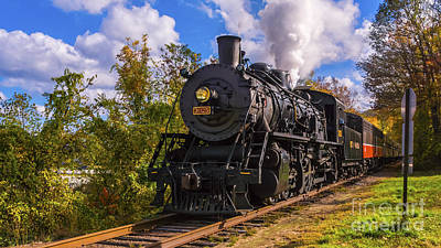 Photograph - The Essex Steam Train 3025 by New England Photography