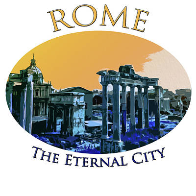 Painting - The Eternal City by Andrea Mazzocchetti