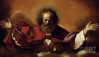 1636 Painting - The Eternal Father by Guercino