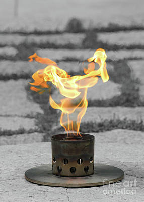 Photograph - The Eternal Flame by E B Schmidt
