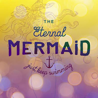 Digital Art - The Eternal Mermaid V1 by Brandi Fitzgerald