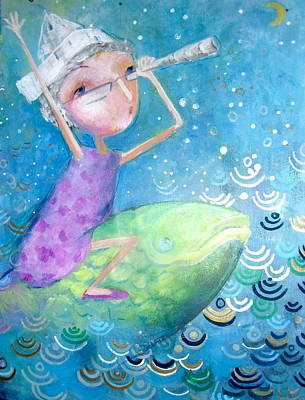 Art Print featuring the painting The Eternal Quest by Eleatta Diver