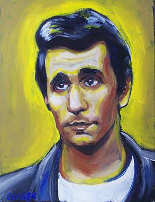 50s Painting - The Eternal Sorrow Of Arthur Fonzarelli by Buffalo Bonker