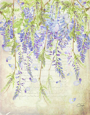 Mixed Media - The Ethereal Wisteria by Colleen Taylor