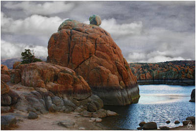 Photograph - The Etherial Boulder by Wayne King