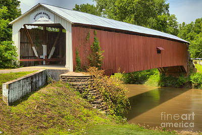 Photograph - The Eugene Covered Bridge by Adam Jewell