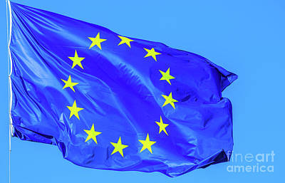 Photograph - the Europe Flag by Benny Marty