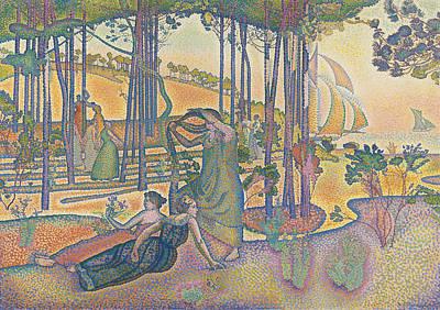 Edmond Cross Painting - The Evening Air by Henri-Edmond Cross