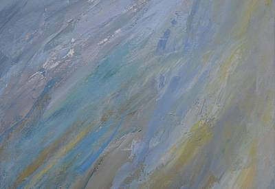 Silver Turquoise Painting - The Evening And The Morning  by Laurie Hein
