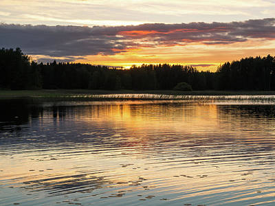 Photograph - The Evening Came Softly With The Sunset by Ismo Raisanen