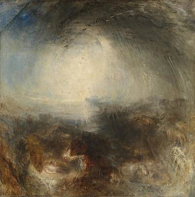 The Deluge Painting - The Evening Of The Deluge by Joseph Mallord