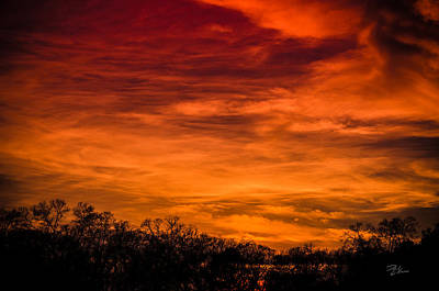 Photograph - The Evening Sky Of Fire by David Collins