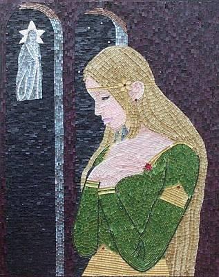 Mosaico Mixed Media - The Evening Star by Liza Wheeler