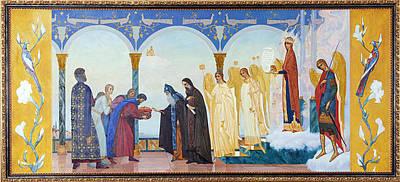 Spririt Painting - The Event In Vlaherna by Ivan Shishman