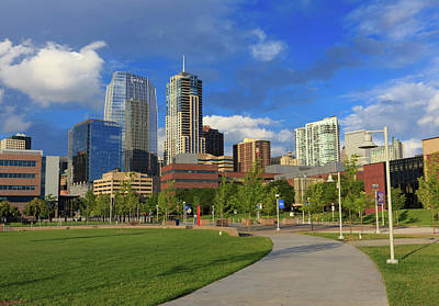 Denver Skyline Photograph - The Ever Changing Denver Skyline by Bridget Calip