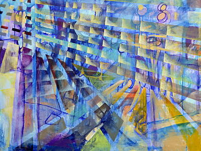 Painting - The Evolution Of Perspective by Regina Valluzzi