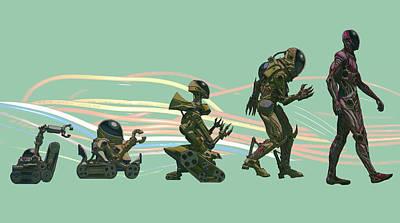 The Evolution Of The Golem Art Print