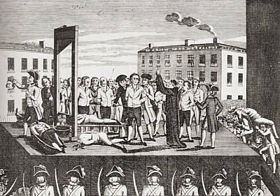 Brissot Drawing - The Execution Of Jacques Pierre by Vintage Design Pics