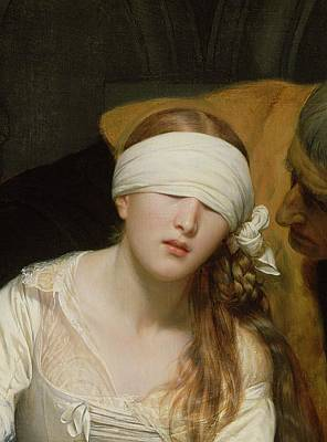 London Painting - The Execution Of Lady Jane Grey by Hippolyte Delaroche