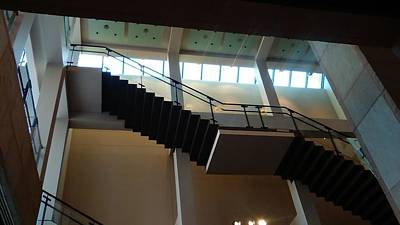 Photograph - The Exhibit Stairs Upside Downside by Michael Hoard
