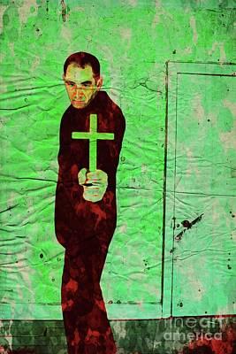 Halloween Digital Art - The Exorcist, Pop Art By Mary Bassett by Mary Bassett
