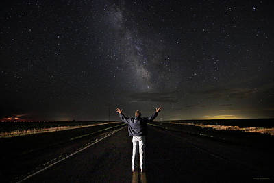 Self-portrait Photograph - The Great Expanse by Brian Gustafson
