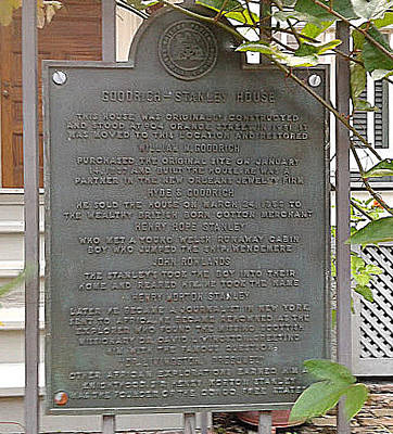 Photograph - The Explorer Sir Henry Morton Stanley Home In New Orleans Residence Plaque by Michael Hoard