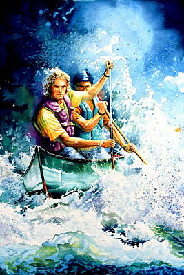 Water Sports Painting - The Explorers by Hanne Lore Koehler