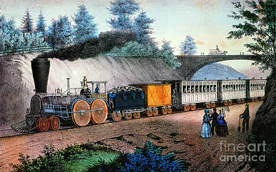 Photograph - The Express Train, C1849 by Granger