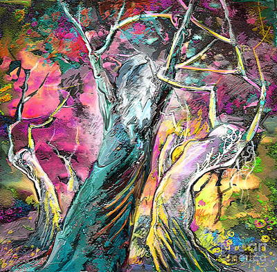 Fantasy Tree Art Painting - The Expulsion From Paradise by Miki De Goodaboom