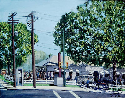 Shopping Center Painting - The Extension by David Zimmerman
