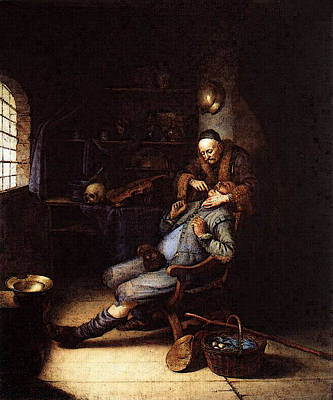 Digital Art - The Extraction Of Tooth  by Gerrit Dou