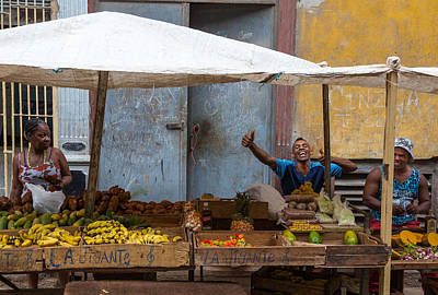 Photograph - The Exuberant Fruit Seller by Peter Bates