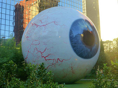 Photograph - The Eye Dallas 1 Of 5 by Tina M Wenger