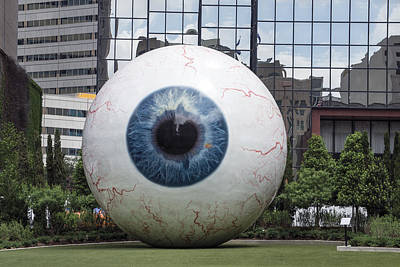 Photograph - The Eye Is A 30-foot-tall Sculpture In Dallas by Carol M Highsmith