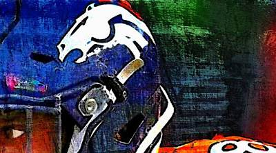 Digital Art - The Eye Of A Bronco by Carrie OBrien Sibley