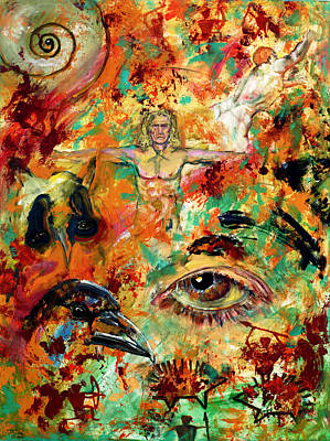 Painting - The Eye Of Art by Peter Bonk