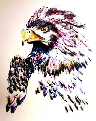 Painting - Watercolor Painting Of The Eye Of Freedom By Ayasha Loya by Ayasha Loya