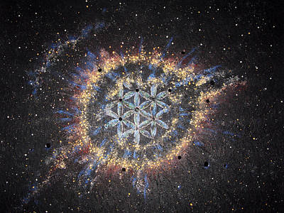The Universe Painting - The Eye Of God - Helix Nebula by Murielle Sunier